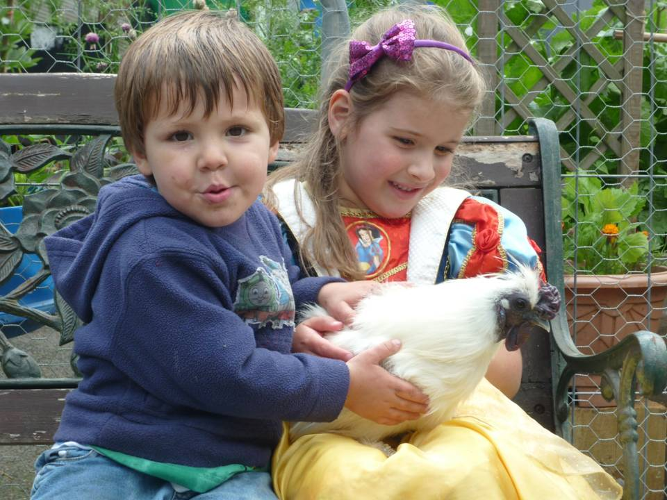 children & silkie